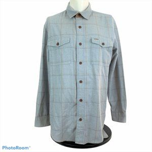 ORVIS Mens Large Fairbanks Flannel Button Up Shirt